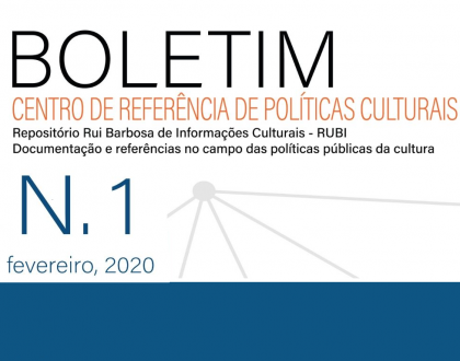 Boletim do Centro de Referências de Políticas Culturais, n.1